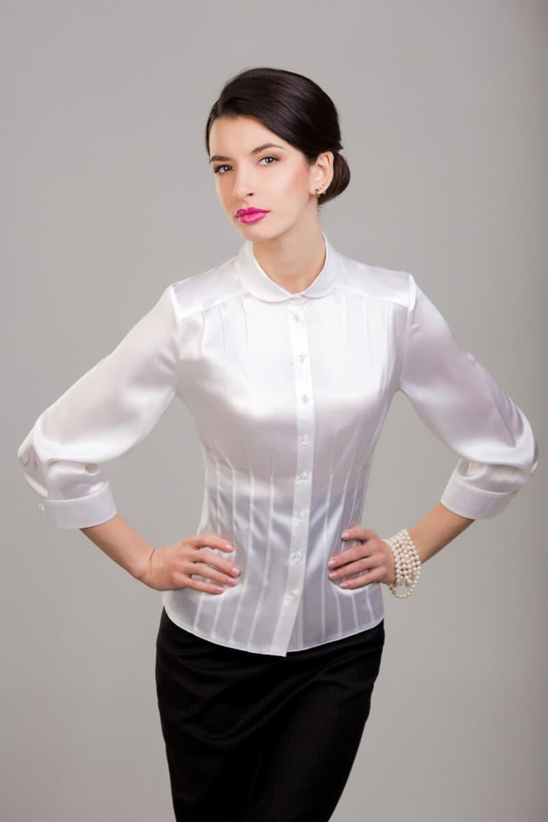 Натуральная Шелковая Блузка Купить